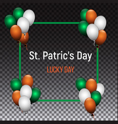 saint patrick s day greeting card design with vector image
