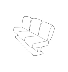 Seat on plane icon outline style vector image vector image