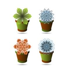 Set of flowerpots vector image