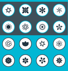 Set of simple blossom icons vector