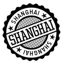 Shanghai black and white badge vector