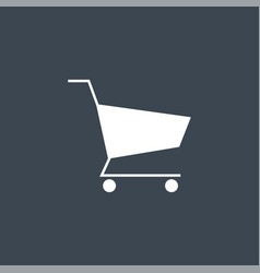 shopping cart related glyph icon vector image