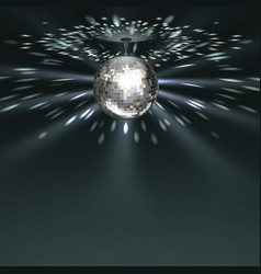 Silver disco ball vector