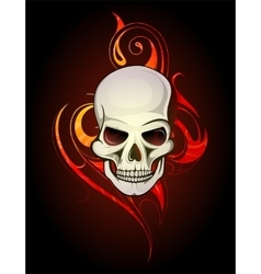 Skull tattoo vector image