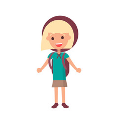 Smiling girl scout isolated vector