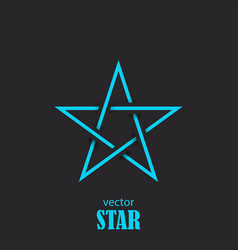 star flat abstract symbol popularity concept vector image