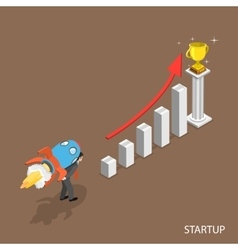Startup isometric flat concept vector image