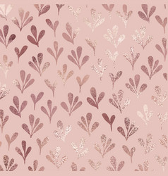 Stylized branches rose gold decorative pattern vector