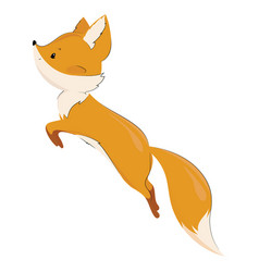Stylized fox in a jump a cartoon fox vector