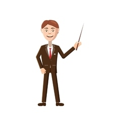 Teacher icon in cartoon style vector image