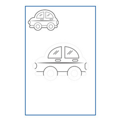 Tracing lines game for preschool or kinderg vector