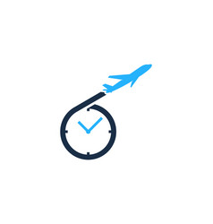 travel time logo icon design vector image