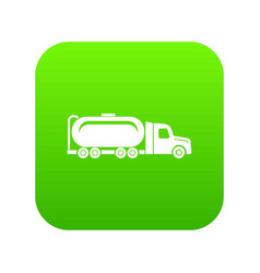 truck oil icon green vector image