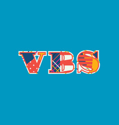 Vbs concept word art vector
