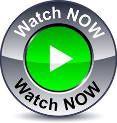 Watch now round button vector image