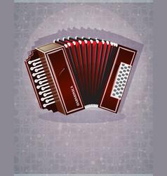 wooden harmonica vector image