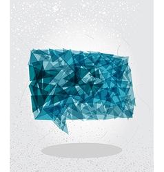 Blue social bubble geometric shape vector image