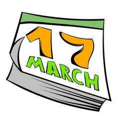 calendar st patrick day icon icon cartoon vector image