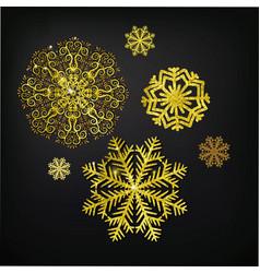 christmas calligraphic design snowflake vector image