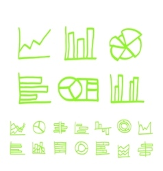 highlighter elements - hand drawn set of vector image