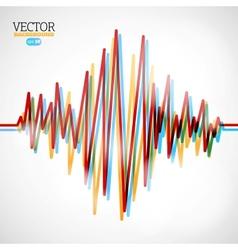 Waveform background vector image vector image