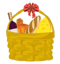Basket with product vector image