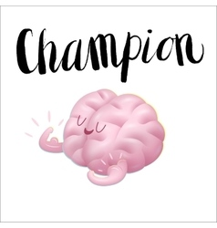 Champion and lettering Train your vector image vector image