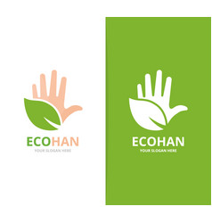 hand and leaf logo combination arm and vector image