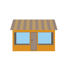 icon in flat design shop vector image