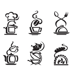 icon set meal vector image vector image