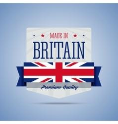 Made in Britan United Kingdom badge vector image vector image