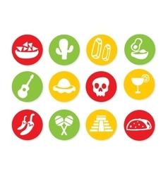Mexican Icon set vector image