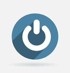 power sign on off Circle blue icon with shadow vector image