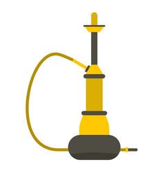 yellow hookah icon isolated vector image