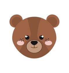 cute little bear animal character vector image