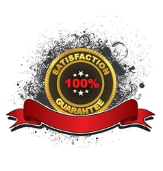 gold label with grunge vector image vector image
