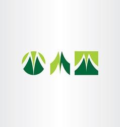 green letter m logo set vector image vector image