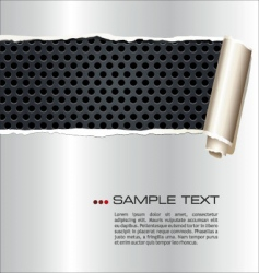 ripped paper on metal grill vector image