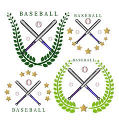 the theme baseball vector image vector image