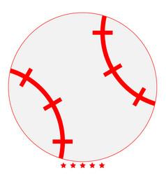 baseball ball icon color fill style vector image