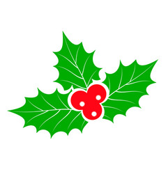 christmas holly berries stock vector image vector image