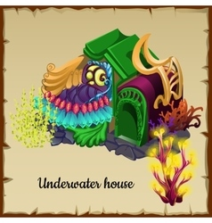 Magical underwater house a resident of the sea vector image vector image