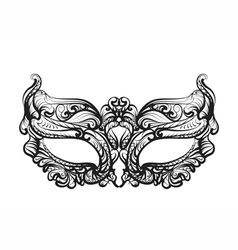 mask silhouette isolated vector image vector image