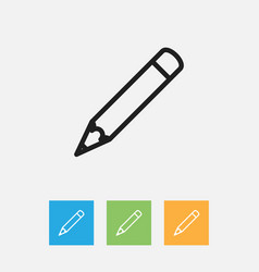 of teach symbol on pen outline vector image vector image