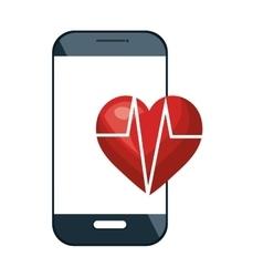 Smartphone and cardio heart vector