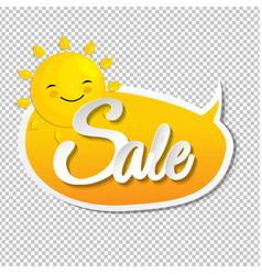 summer sale speech bubble with sun vector image vector image