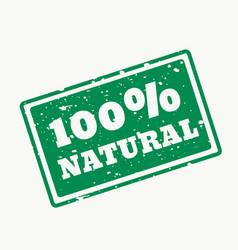 100 natural stamp vector