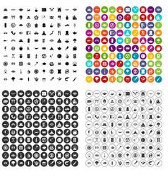100 sushi bar icons set variant vector