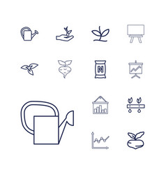 13 growing icons vector
