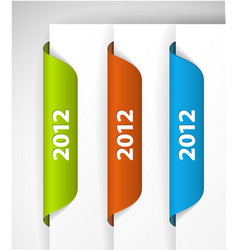2012 labels stickers vector image vector image